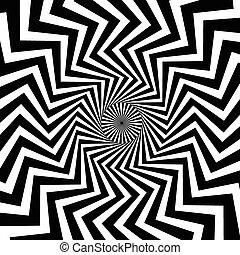 Trasfondo giratorio. Formas abstractas formando fenómeno vórtice.