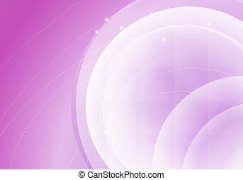 Trasfondo horizontal rosado abstracto con círculos transparentes. Ilustración de vectores