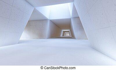 Trasfondo interior blanco