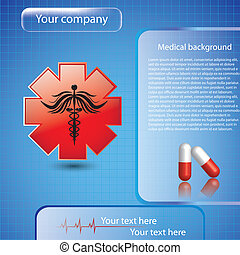 Trasfondo médico abstracto
