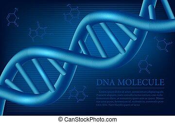Trasfondo molécula de ADN. Ilustración de vectores.