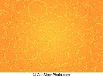 Trasfondo naranja abstracto con círculos