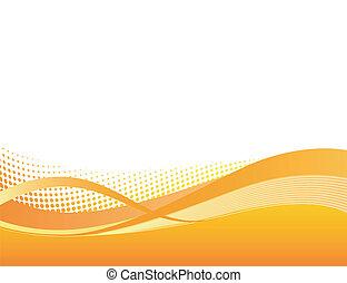Trasfondo naranja dinámica
