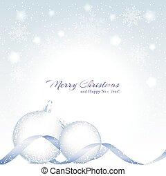 Trasfondo navideño con bola de cristal brillante