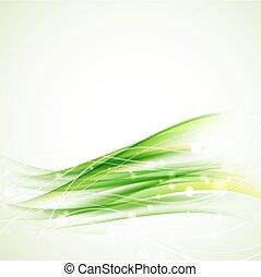 Trasfondo ondulado abstracto verde con destellos