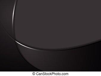 Trasfondo ondulado negro abstraído