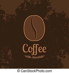 Trasfondo oscuro con granos de café