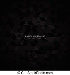 Trasfondo oscuro triangulado abstracto