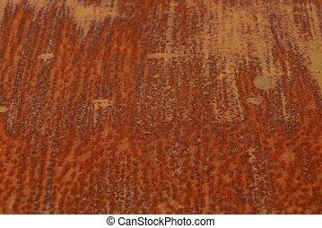 Trasfondo oxidado de metal rojo de un pedazo de hierro