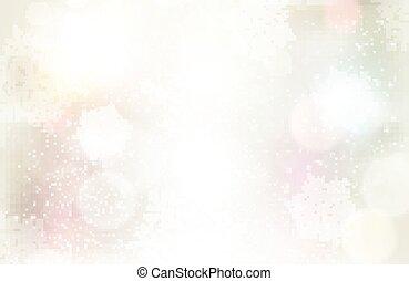 Trasfondo plateado festivo con efectos de luz y copos de nieve
