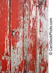 Trasfondo rústico de madera de granero rojo