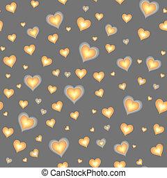 Trasfondo sin costuras con corazones de dibujos animados