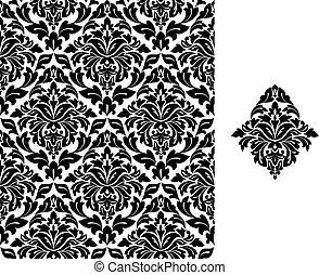 Trasfondo sin fisuras con patrón floral