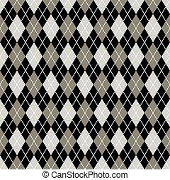 Trasfondo sin rotura de rombos. Negro, gris y blanco.