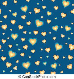 Trasfondo sin sentido con corazones animados