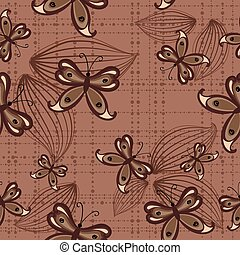 Trasfondo sin sentido con mariposas