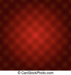 Trasfondo tártano de tela roja. Vector