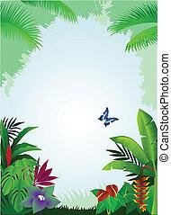 Trasfondo tropical del bosque