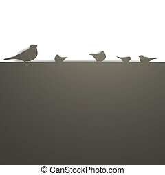Trasfondo vector con aves