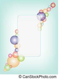 Trasfondo vector con burbujas