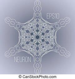 Trasfondo vectorial con la imagen de una neurona
