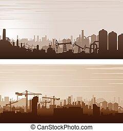 Trasfondo vectorial industrial