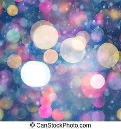 Trasfondos de Navidad abstractos con fiestas de belleza bokeh
