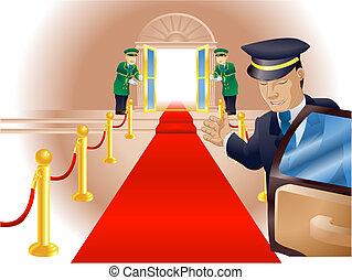 Tratamiento de alfombra roja VIP