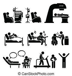 Tratamiento médico del hospital