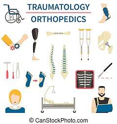 Traumatología y iconos ortopédicos