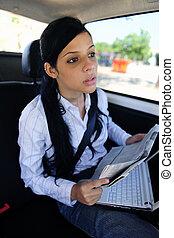 travel:, limusina, empresa / negocio, mujer de negocios