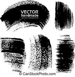 Trazos de pincel con textura negra