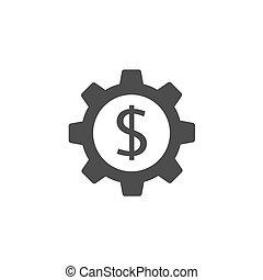 Tren con icono de dólar