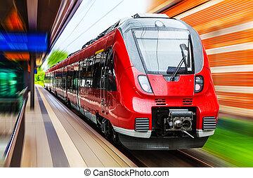 Tren de alta velocidad moderno