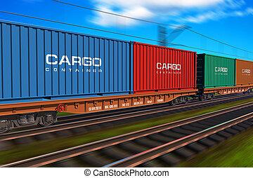 Tren de carga con contenedores