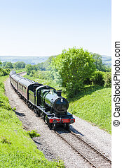 Tren de vapor, gloucestershire Warwickshire, Gloucestershire, Inglaterra