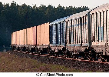 Tren diesel de carga