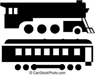 Tren silueta