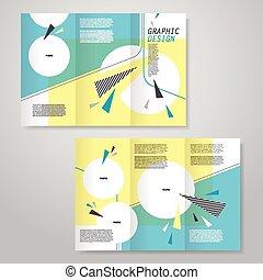 Trendy tri-pliego diseño de plantilla de folletos
