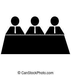 Tres íconos de hombres de negocios