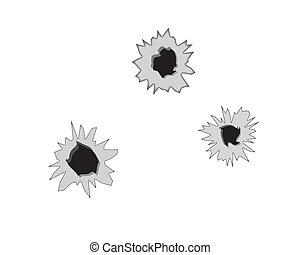 Tres agujeros de bala