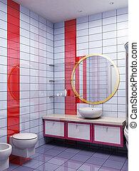 Tres baños de dibujo
