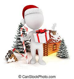 Tres blancos escenas de Navidad