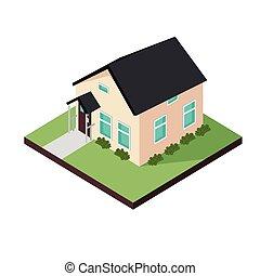 tres, casa, dimensional