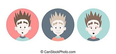 Tres chicos emocionales enfrentan iconos