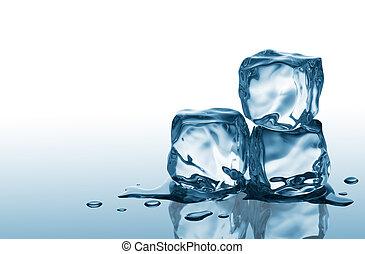 Tres cubos de hielo