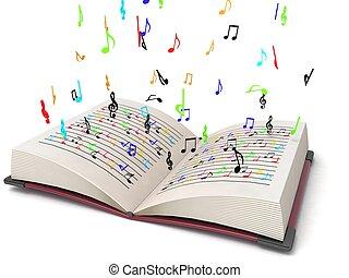 Tres dimensionales notas musicales