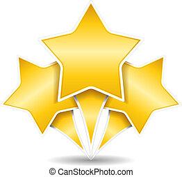 Tres estrellas doradas