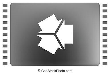 Tres flechas frente a otro icono