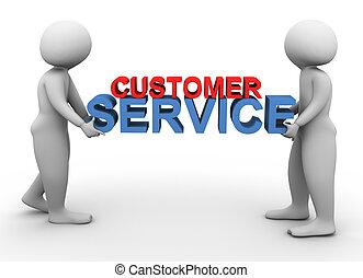 Tres hombres con servicio al cliente